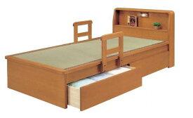 畳ベッド ベッド 木製 たたみベッド シングルベッド 畳ベッド 手摺付き ライト付 棚付 宮付き 棚付き 照明付き 収納 たたみベッド タタミベッド 木製 介護 引出し無し