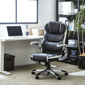 オフィスチェア デスクチェア パソコンチェア ハイバック 社長椅子 椅子 事務椅子 可動肘 ロッキング機能 高さ調節 ブラック
