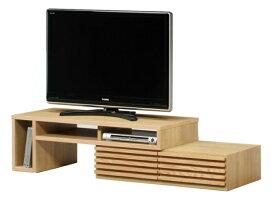 テレビ台 伸縮 テレビボード 幅119cm 伸縮式 伸縮タイプ 完成品 木製 レッドオーク ナチュラル 日本製 おしゃれ 北欧 人気 タイム
