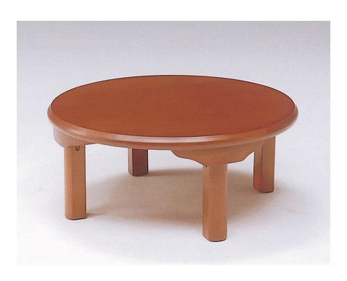 座卓 折りたたみテーブル 円形(丸) ローテーブル リビングテーブル 80(折脚)折り脚 折り畳み 和風