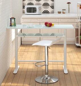 カウンターテーブル ハイテーブル 幅120 棚付き 作業台 バーテーブル テーブル ハイテーブル バーカウンター バーカウンターテーブル いすは別売 ブラック ホワイト おしゃれ 人気