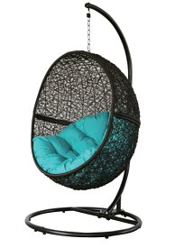 ハンキングチェア ガーデンチェアー チェア たまご型 卵型 ラタン 北欧チェア ハンモック 吊り椅子 揺れるチェア たまご型 ソファ
