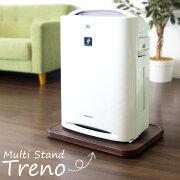キャスター付きのマルチスタンド『Treno(トレーノ)』。空気清浄機やファンヒーターなどの家電、観葉植物、米びつ、飲料ケースなど重いものを置けば、お掃除や移動がラクラクできます♪