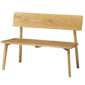 ダイニングベンチ 背付きベンチ ベンチ 110cm ダイニングチェア カントリー調 オーク無垢 食卓いす 食卓イス 食卓椅子 肘なし 木製