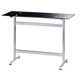 カウンターテーブル 120 ハイテーブル ブラック ガラステーブル デスク バーカウンター バーカウンターテーブル 強化ガラス シンプル おしゃれ