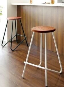 カウンターチェア バーチェア スツール ハイスツール カウンタースツール 木製 高さ69cm カウンターテーブルチェア 椅子 足置き付き ハイスツール 北欧 おしゃれ ブラック
