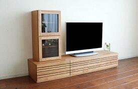テレビボード ローボード オッジオ エルバ チェリー 幅180cm チェリー材 ナチュラル テレビ台 テレビラック 180cm 木製 ローボード 収納 TV台 TVボード TVラック AVボード テレビボードのみ 完成品ボックスは別売りです。