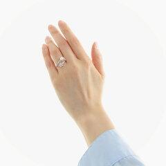 パールリングシルバーフラワー真珠指輪サイズフリー大きい普段使いあこや本真珠ジルコニアレディース可愛い人気彼女プレゼント5mm日本製冠婚葬祭三重伊勢志摩産地直送【送料無料】あこや真珠フリーサイズリングフラワー