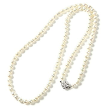 OKKOオッコOKKOあこや真珠80cmバロックロングネックレスホワイト