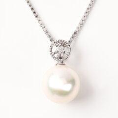 OKKOオッコあこや真珠ダイヤモンドペンダント