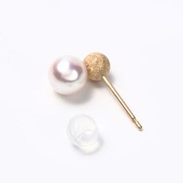 ピアス真珠小さい5mm5.5mmあこや真珠かわいいシンプル定番普通フォーマル式典卒業卒園アコヤ真珠【K10イエローゴールドスノーボールピアス】伊勢メーカー直販日本製
