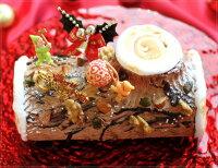 クリスマスケーキ予約2019ブッシュドノエル19cm(目安・4-6名分)クリスマスパーティー数量限定飾りキャラクター2人ピックかわいいおしゃれ送料無料カトルフィユ広島