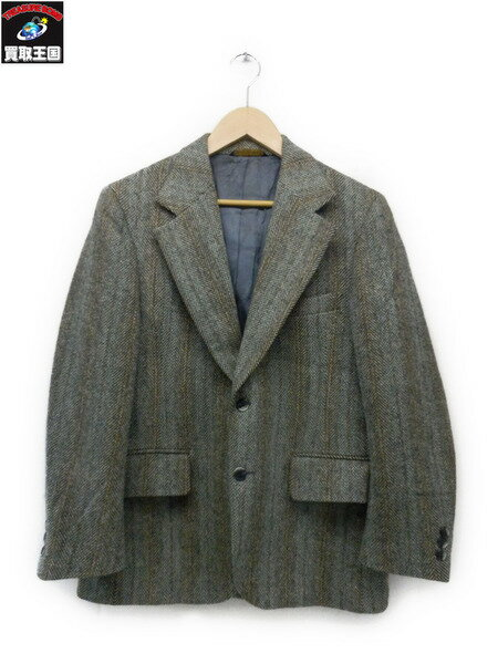 70s~ harris tweed センターベント ジャケット【中古】