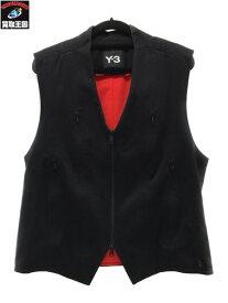 Y-3 ジップアップベスト SizeM BLK ワイスリ−Y3 adidas アディダス YOHJI YAMAMOTO ヨウジ ヤマモト【中古】