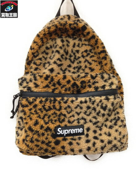 Supreme 17AW Leopard Fleece Backpack【中古】