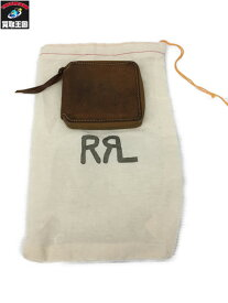 d5918adb7118 中古 RRL ROUGHOUT LEATHER ZIP WALLET レザー 財布 スエード【中古】[▽]