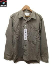nanamica オープンカラーシャツジャケット (S) ベージュ【中古】