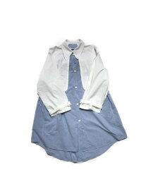 MM6/ストライプレイヤードシャツ/ブルー/40【中古】[▼]