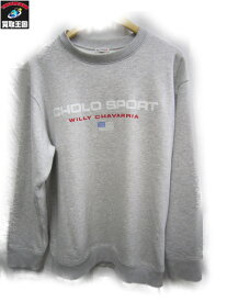 WILLY CHAVAWISM 17AW CHOLO SPORTS SWEAT グレー SIZE:-【中古】[▼]