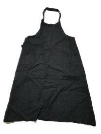 Yohji Yamamoto リネンエプロン SIZE:3 ブラック【中古】