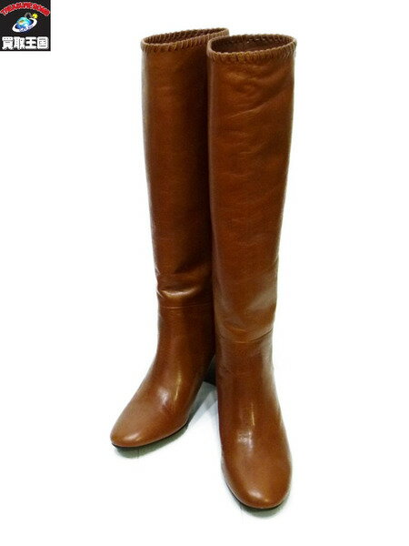 Odette e Odile Stichwork ロングブーツ 35 ブラウン 22.5cm オデットエオディール【中古】[▼]
