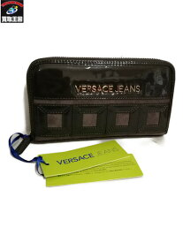 11732411b980 中古 VERSACE JEANS COUTURE/ラウンドファスナー長財布【中古】[▽]