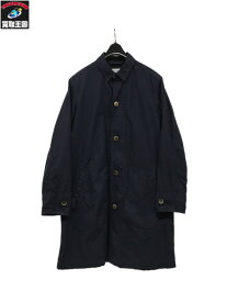 MANUAL ALPHABET タイプライター/ロングシャツコート 1(S) 紺【中古】