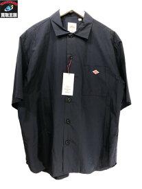 Danton コットンポリプン半袖ワイドシャツ(40)JD-3609 MSA ネイビー ダントン【中古】