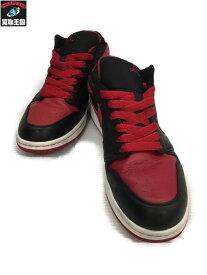 NIKE AIR JORDAN 1 PHAT LOW BRED 黒/赤 30.0cm US12 2008年製【中古】[▼]