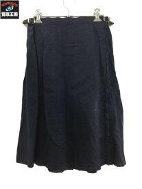 O'NEIL of DUBLIN オニール・オブ・ダブリン リネン タック ラップスカート【中古】