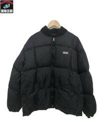90s STUSSY ダウンジャケット (L) 黒【中古】
