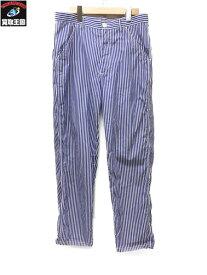 COMME des GARCONS SHIRT コムデギャルソンシャツ ストライプ柄コットンパンツ W23147【中古】