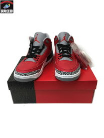 NIKE AIR JORDAN 3 RETRO SE FIRE RED size26.5cm【中古】