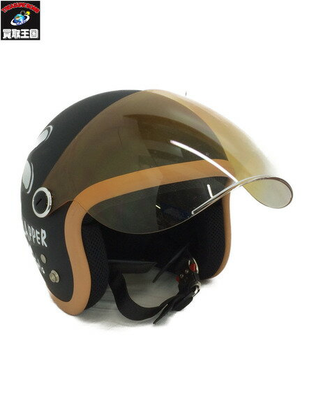 ダムフラッパー フラワージェット ジェットヘルメット レディースサイズ ガールズヘルメット 57-58cm【中古】