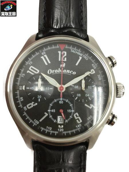 オロビアンコ OR-0021 タイム・オラ クロノグラフ 腕時計 黒【中古】