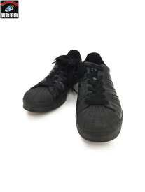 adidas アディダス スーパースター (27.5) レザースニーカー 黒 【中古】[▼]
