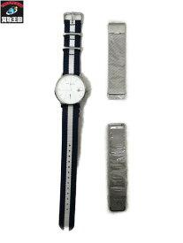 THOMAS ALEXANDRE トーマアレクサンドル 腕時計 ネイビー×ホワイト【中古】[▼]