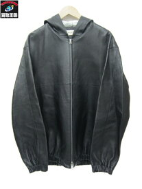 MARNI 18SS Grained Leather Hoodie/ラムレザーパーカー 46(S) 【中古】[▼]