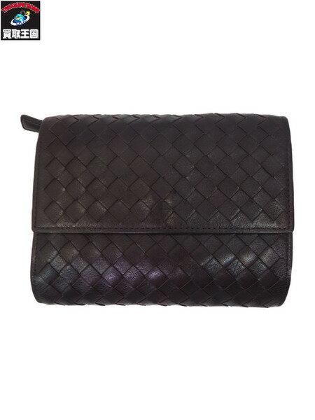 土屋鞄製造所 編み込み三つ折り財布【中古】