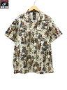 LA ROCKA ラロッカ スカルダンス総柄オープンカラーシャツ(L)オフホワイト タグ付き【中古】[▼]