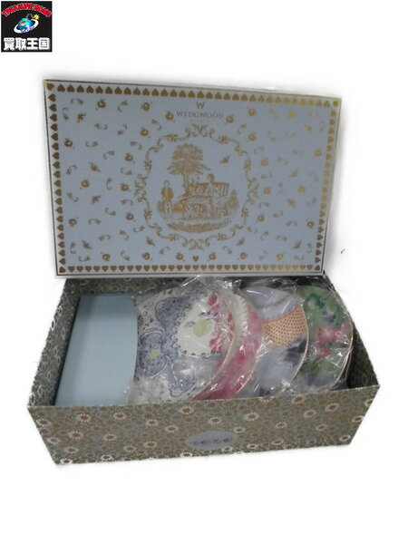 WEDGWOOD BUTTERFLY BLOOM 皿 プレート 4枚セット【中古】