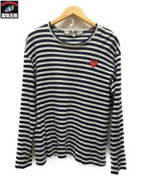 PLAY COMME des GARCONS L/Sボーダーカットソー (L)【中古】