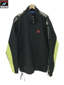 DC×XLARGE HALF ZIP TRAKCER JACKET (XL)黒【中古】