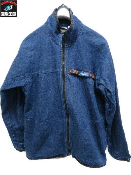 KAVU フルジップスローシャツ ジップアップ インディゴカバーオール (L)【中古】