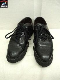 foot the coacher/フットザコーチャー/SEMI BROGUE SHOES RUBBER/ラバーソールシューズ/靴/8 1/2【中古】[▼]