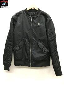 LONG CLOTHING/ロングクロージング/刺繍MA-1/ブラック/M【中古】[▼]