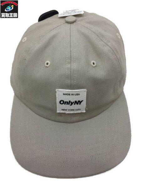 ONLY NY (MADE IN USA) 6Panel Cap Beige【中古】