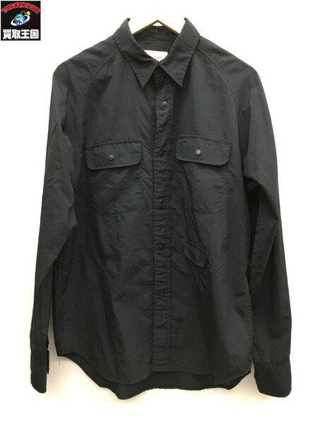 Battenwear/バテンウェア/ナイロンシャツ/AMP SHIRT/ブラック/M【中古】