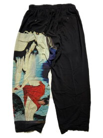 Yohji Yamamoto 浮世グラフィックパンツ SIZE:2 ブラック【中古】