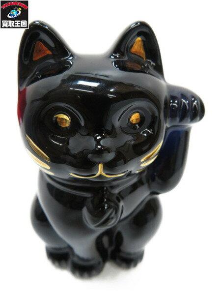バカラ 招き猫 ブラック【中古】